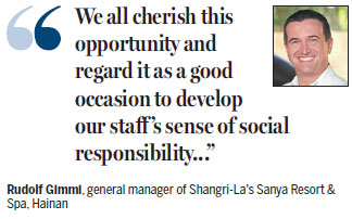 Sanya Shangri-La hosts honored teachers