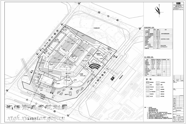 湘潭荷塘综合客运枢纽站项目总平面图.