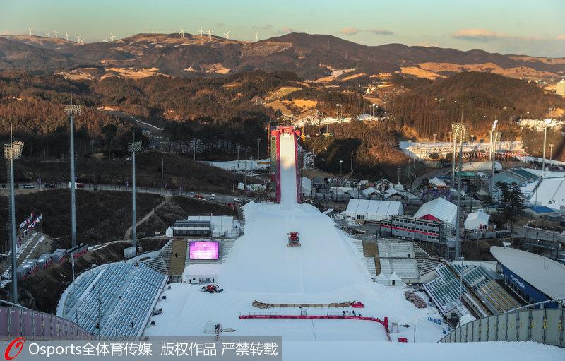 高清:平昌冬奥会前瞻 阿尔卑西亚滑雪中心美景【2】