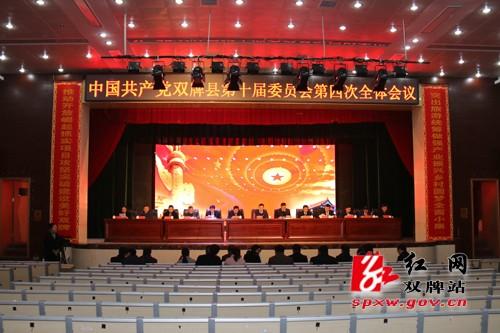 中共双牌县第十届委员会第四次全体会议