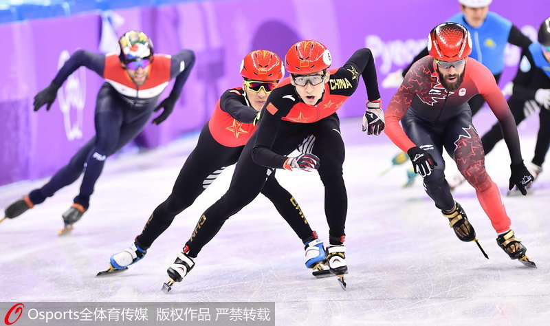 中国队奋力拼搏