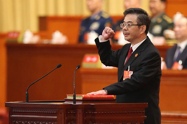 Zhou Qiang re-elected head of SPC