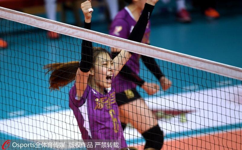 天津队庆祝夺冠