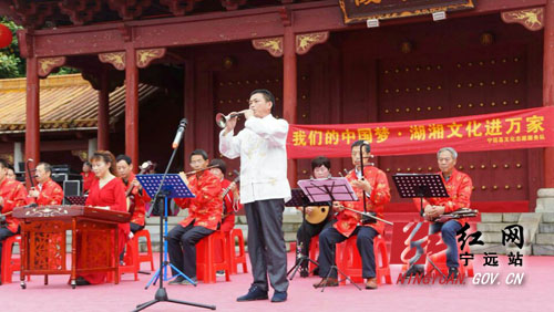 宁远文化志愿者开展义务演出活动