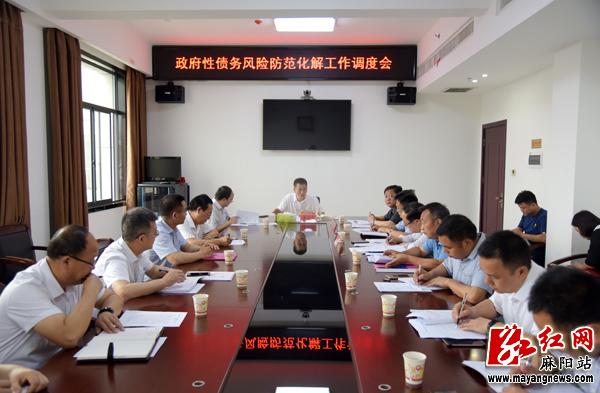 麻阳县召开政府性债务风险防范化解工作调度会