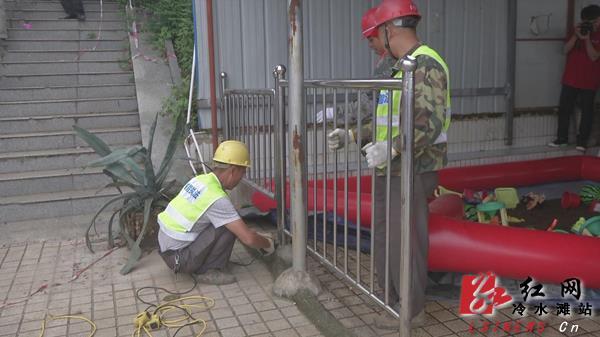 冷水滩:联合执法拆除潇湘平湖码头违章娱乐设施