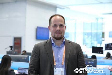 俄罗斯卫星通讯社记者卡斯巴申·安德烈(摄\李文亮)