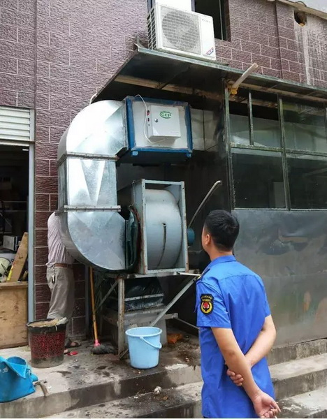 【蓝天保卫战】湘潭经开区:餐饮业油烟净化整治见成效