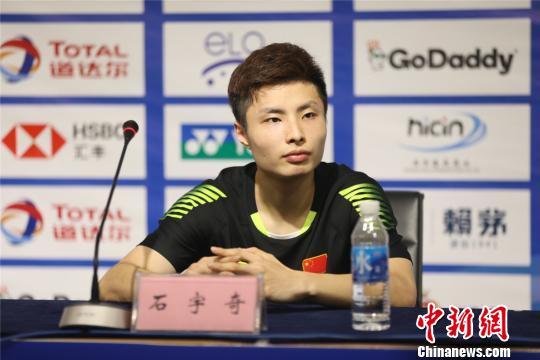 曾在四年前南京青奥会上表现出色的小将石宇奇如今已成国羽主力之一。宁羽轩 摄