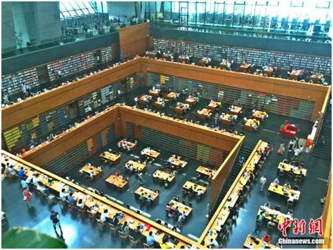国家图书馆阅览区。杨雨奇 摄