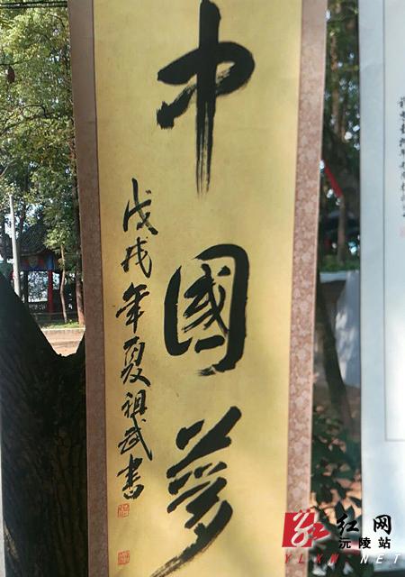 干部(老年)书画协会在湘西剿匪胜利公园举办纪念改革开放40周年书画展