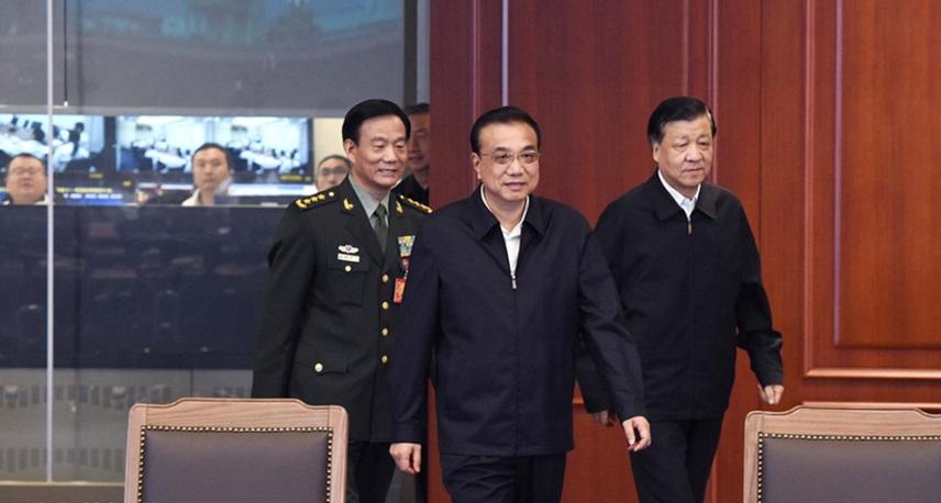 李克强刘云山在北京观看神舟十一号载人飞船发射实况