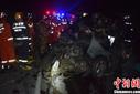 广西柳州一面包车与大货车碰撞 致5死5伤