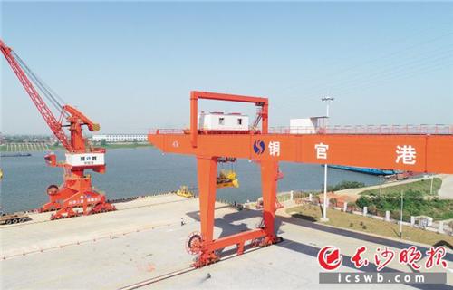 铜官港区一期码头试运行 助力长沙对接长江经济带
