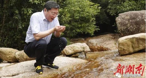 """湖南第一总河长杜家毫""""捧喝三大口湘江水""""刷屏了"""