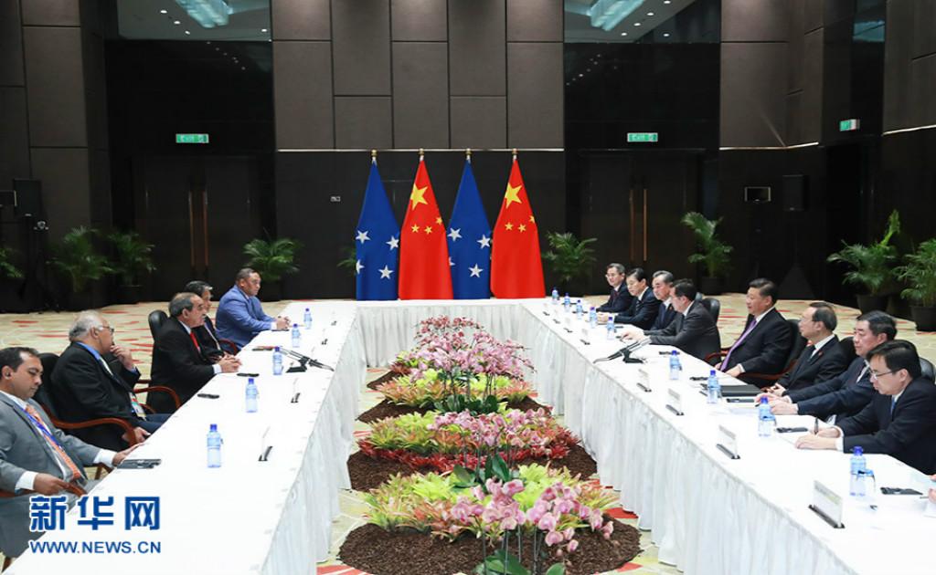 习近平会见建交太平洋岛国领导人